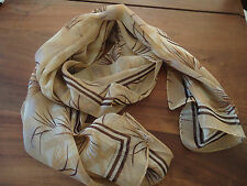 FOULARD  BEIGE PAILLOTTE  - dimensions 160 * 50 cm- 100% POLYESTER