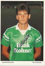 Sigi Mauerhofer   FC ST.Gallen  Fußball Autogrammkarte signiert 365766