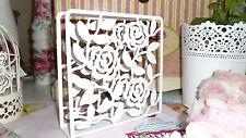 ♕ Shabby chic ❤ Vintage ❤ Floral ❤ white Liksidig by IKEA  Napkin Holder ♕