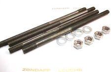 Zündapp Zylinder Stehbolzen 4 Stück M7 x 140mm + Scheiben und Mutter KS 50 WC