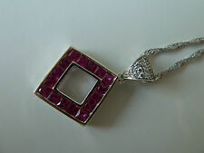 925 Sterling silver Pendant (Ruby) Quality AAAAA grade CZ, Registered post FREE