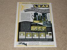 Leak TL/10 Amp Ad, 1955, Articles, Specs, BIC, KT-61