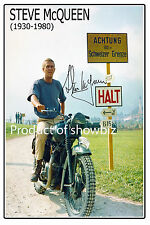 * STEVE McQUEEN * Large autographed poster of late hollywood icon! Great gift!