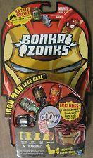 BONKAZONKS SERIES 1 MARVEL Iron Man Face Case 4 pack action figures 2 cards NEW