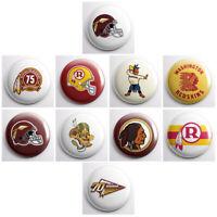 "WASHINGTON REDSKINS VINTAGE - NFL football retro pinback buttons - pin - 1"" pins"