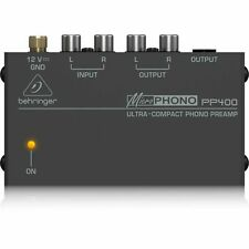 Behringer PP400 Ultra Compact Phono Preamp / Turntable Preamplifier