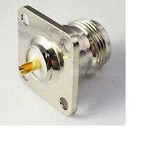 N Type Female with 4 Holes Flange Mount 25mm Solder RF Coaxial Convertor Adapter