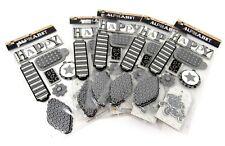 Bulk Lot #59 5 packs DCWV Silver Glitter Chipboard Pop-Up Stickers 40 pcs