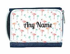 Personalised Denim Purse With Flamingo Style Design