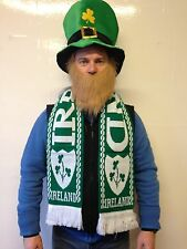 St Patricks Day Ireland Scarf Green Shamrock Rugby Football Fancy Party
