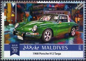 1968 PORSCHE 912 Targa Classic Sports Car Stamp (2015 Maldives)