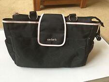 Carter's Black w/Pink Trim Large Diaper Bag