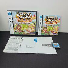 Harvest Moon: Grand Bazaar (Nintendo DS, 2010) 2DS 3DS XL Authentic Complete CIB