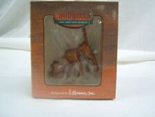 Al Myers's WoodWorks Hand Carved Wood Christmas Ornaments Dog Orig Box