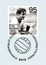 BRD 2020: Fritz Walter Nr. 3568 mit sauberem Bonner Ersttagssonderstempel! 20-11
