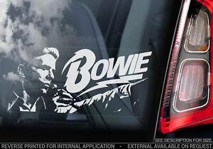 David Bowie - Car Window Sticker -Glam Rock Music Decal Sign Ziggy Stardust -V02