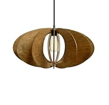 Wood chandelier Kitchen pendant lighting Dining room light fixture Plywood lamp