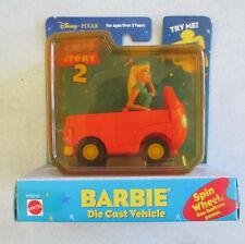 MOC MATTEL TOY STORY 2 BARBIE DIECAST VEHICLE - BARBIE MOVES WHEN WHEELS SPIN