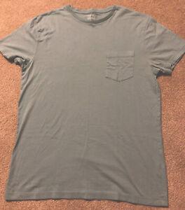 J. Crew Factory Slim-Washed Soft Green Short Sleeve Pocket T-Shirt Medium