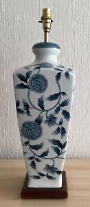 "Beautiful  Tall Blue & White ceramic lamp 20"" High"