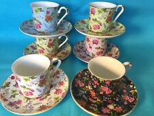Baum Bros Formalities Charlotte Chintz demi-tasse cup & saucer set 6 sets avail