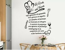 Adesivi murali frasi cucina ricetta wall stickers adesivo da muro per parete