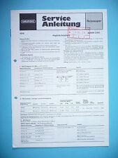 Service Manual-Instructions pour Grundig satellite 2100, original