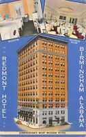 Linen Postcard Redmont Hotel in Birmingham, Alabama~128965