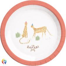 Safari Wild Animal Party Celebration Cheetah Large Lunch Plates (6)