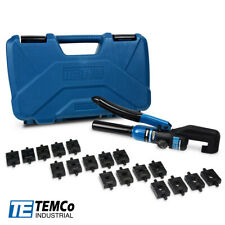 Temco Hydraulic Cable Lug Crimper Th0006 V20 12 Awg To 00 20 Cable Wire