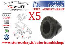 SET 5 GOMMINI INCASTRO COPERCHIO MOTORE AUDI - SEAT - SKODA - VOLKSWAGEN