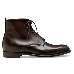 Handmade Men's Brown Leather Two Tone Toe Caped Jodhpur Lace Up Derby Ankle Boot
