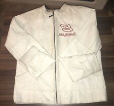 Size M NASCAR jacket/Dale Earnhardt. White/ Small amount Dirt Wilson Leather #3