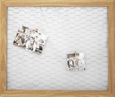 Metall Gitter Fotorahmen + 50 Holz Klammern - 66x56 cm - Bilderrahmen Fotohalter