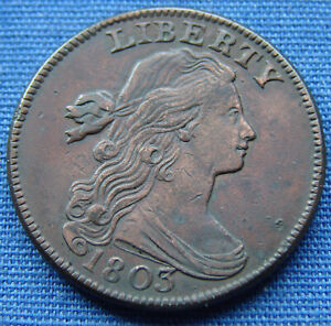 *VERY NICE LOOKING 1803 DRAPED BUST LARGE CENT - ESTATE FRESH*