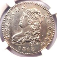 1818 B-9 Capped Bust Quarter 25C - NGC AU Details - Rarity-5 (R5) B-9 Variety!