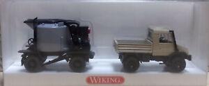 Wiking 4050326 Gussasphaltkocher mit Unimog U140 1/87 (21/13)