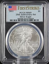 2011 Silver Eagle 25th Anniversary Set PCGS MS 69 First Strike