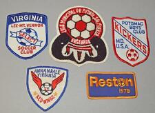 5 Old Cloth Soccer Patch / Badges - Unused - USA.