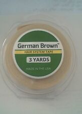 German Brown Liner Cloth Toupee Hair Replacement Tape 1/2'' x 3 yards