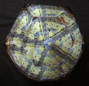 Whitefriars Paperweight Millefiori Close Concentric Multi Facet Glass