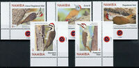 Namibia Birds on Stamps 2020 MNH Woodpeckers Cardinal Woodpecker 5v Set B