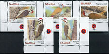 More details for namibia birds on stamps 2020 mnh woodpeckers cardinal woodpecker 5v set b