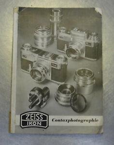 Originale Zeiss Ikon AG Dresden  Contaxphotographie Buch