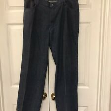 Vintage Mens 70s Mann Brand Jeans Flare Retro 38 In Waist And 31 Inseam Med Wash