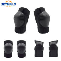 Adult BMX Bike Knee Pads and Elbow Pads with Wrist Guards Protective Gear 3 in 1