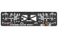 Mitsubishi MotorSport 2xECHTE 3D-Effekt Kennzeichenhalter, Nummernschildhalter