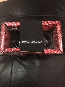SMART THEATER Deluxe Cardboard VIRTUAL REALITY HEADSET Adjustable Lenses VR