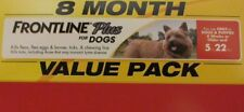 Frontline Plus For Small Dogs Up To 22 lbs - 8 Month Supply EIGHT MO