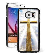 For Samsung S8 S7 S5 S6 Edge + Note Active Hard Case 221 Wood Cross Christian